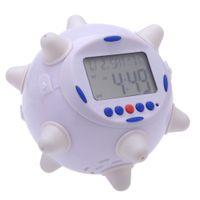 Wholesale Rotary Clock - LED Jump Clock with Rotary Musical Alarming Alarm Calendar Thermometer Desktop Table Clocks Despertador, dandys