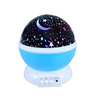 Barato Led Para Lâmpada Giratória Colorida-Led Night Lamp Rotating Star Light Color Changing Projection Sleeping Lamp Room Novelty 3 Mode Decor
