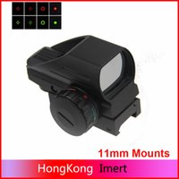 Wholesale Wholesale Reflex Sights - 2016 Hunting Optics 1x22x33 Compact Reflex Red Green Dot Sight scope 4 Reticle Sights for Airsoft With Weaver 20mm & 11mm Mounts