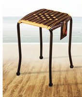Wholesale Outdoor Rattan Dining - rattan stool hand weaving chairs Outdoor Furniture Outdoor Fashionable stool chairs gardon Chair Dining Chairs Bathroom stool