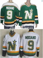 Factory Outlet Customer Good Quality Evaluation Discount Dallas Stars Jerseys Minnesota North Star 9 Mike Modano Vintage Throwback Home Aw In Bulk Price