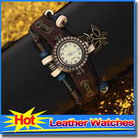 Wholesale Leather Watches For Women Cheap - A2115 Cheap Watches Wholesale Thin Rope Leather Straps Womens Watches Handmaid Weave Retro Watch Bracelet Watches For Women Wristwatch