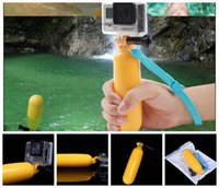 Wholesale Hanging Mask - Water Floating Hand Grip Handle Mount Float Accessory for Gopro Hero 4 3+ 3 2 1 for sj4000 With screw +hang rope