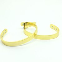 Wholesale East Relief - Gold plated BRACELET ARTHRITIS RELIEF Bangle   Bracelet fashion man ladies power magnetic bangles B19