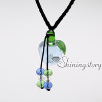 Wholesale Glass Jewelry For Essential Oils - wholesale diffuser necklace lampwork glass essential jewelry perfume sample vials diffuser necklace for essential oils perfume sample vials