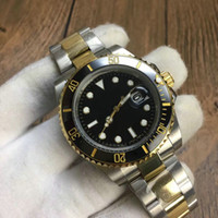 Wholesale Orange Bezel Dive Watch - Luxury mens watches top aaa quality Business brand automatic mechanical dive watch stainless steel ceramic bezel luminous wristwatch