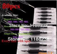 agujas desechables para tatuaje al por mayor-Venta al por mayor-80 X Máquina desechable de tatuaje Grip Tube 3/4