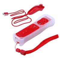 Wholesale Motion Controller Nintendo - 5 colors Built in Remote Controller Motion Plus Inside + Nunchuck Controller + Silicone Case for Nintendo Wii Wii & for Wii u