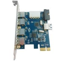 Wholesale Usb Port Expansion - Q00445 WBTUO LTU37P PCI-E 4-Port USB 3.0 + 1-Port USB 3.0 + USB 3.0 20 PIN Expansion Card for Desktop + FS