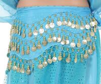 Egypte Belly Danse Hanche Jupe Écharpe Wrap Ceinture Costume Danse Du  Ventre Taille Chaîne décoration Foulard Tablier 12 Couleurs 3 Rangées 128  Coins 4d7e26df161