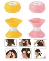 2 Pz / set Wave Mushroom Pattern Acconciatura <b>Soft Hair Care</b> fai-da-te Roll Hair Style Bigodino Bigodino per capelli