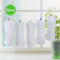 Wholesale Ecological Cotton - 10pcs lot 2016 Baby Ecological Diapers Washable 3 Layers Soft Cotton Cloth Summer Reusable Diaper Nappy Liners Unisex 42x16cm Peanut Shape