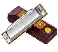instrumente mundharmonika großhandel-Folkaster 1072 Standard Anfänger Diatonic Blues Mundharmonika Gaita 10 Löcher Key von A C D E F G Musikinstrument