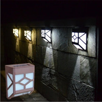 Wholesale Solar Powered Led Wall Lamp Solar Light Lamp White Warm White Flood Lights Leds Outdoor Garden Light Yard Path Wall Landscape Lamp