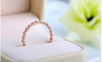 Wholesale Wholesale Italian Fashion Jewellery - Wholesale-Wholesale Italian Jewelry 18K Rose Gold Plated Twist Jewelry Rings Korean Style Fashion Women Jewellery