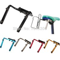 Wholesale Seat Bottle Cage - NEW Bike Bicycle Cycling Road MTB Double Water Bottle Cage Holder Back Seat Aluminum Alloy Red Blue Black Silver Gold order<$15 no tracking