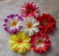 fleurs de lotus en soie artificielle achat en gros de-En gros 12 CM 8 couleurs disponibles soie lotus arc artificielle faux fleur mur de mariage décoration de voiture fleur