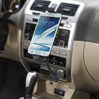 Wholesale Usb Mobile Phone Cigarette Lighter - Universal Car Phone holder usb charger cigarette lighter Mount Stand for Samsung Galaxy S2 S3 S4 's Motorala Lenovo LG,ZTE,TCL,Xiaomi