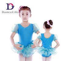 Wholesale Ballet Practice Wear - Free shipping Child puff sleeve ballet tutu C2223 wholesale ballet dance tutus child practice tutus discount ballet wear
