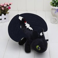 Barato Treinar Dragão Brinquedos Desdentados-9 '' COMO TREINAR O SEU DRAGON MINI PLUSH Toothless Night Fury Toy