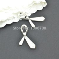 Wholesale Metal Charms Pendants Bow - Free shipping 40pcs Antique metal tibetan silver charms bow tie pendants hand made fit jewelry making 38*20mm Z42857