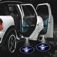 luzes auto fantasma venda por atacado-2 pcs X 4o Gen LED Projector Emblema Fantasma Sombra Veículo Leve / Auto / Porta Do Carro LEVOU Luz Do Logotipo