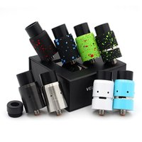 Wholesale Rebuildable Dripping Atomizer Sale - Vaporizer Velocity RDA Clone Rebuildable Atomizers Splatter With Wide Bore Drip Tips 2015 Newest 8 Colors In Stock Fit 510 Box Mods Hot Sale