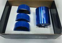 Wholesale Turbonator Intake Fan - Free Shipping Universal Car Air Intake Turbo Turbonator Single Fan Propellers Single Fan Kit Fuel Saver Blue M45004