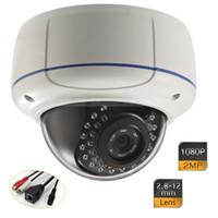 Wholesale Dome Camera Vandal Ip - 1080P HD 2MP Onvif Network Outdoor Vandal-proof Dome IP Camera 2.8-12mm 30IR
