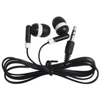 ingrosso auricolari mela nera-Universale più economico monouso nero colorato in-ear auricolari per iphone 7 6 5 cuffie mp3 mp4 3.5mm audio 100 pz / lotto dhl gratis