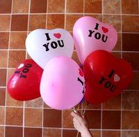 Wholesale Cake Toppers For Weddings Cheap - Wholesale Cheap 100 Per Bag I Love U Balloons Wedding Decorations Sweet Heart Style Suppiles For Weddings