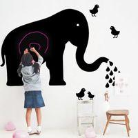 Wholesale Nursery Diy - Free Shipping 2017 Creative Elephant Blackboard Wall Stickers DIY PVC Nursery Background Home Decor Remove Wall Decal