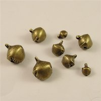 Wholesale Bronze Jingle Bells - (200 pieces lot) Fashion Antique Bronze Metal Small Jingle Bell Christmas Decoration Jewelry Finding (6 10 12 14MM) 012hd
