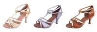 Wholesale Latin Dance Shoes Brands - Brand New Women's Modern Ballroom Latin Tango Dance Shoes heeled Salsa 3 colors 255