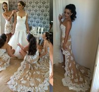 Wholesale one shoulder dresses for juniors - Champagne Bridesmaid Dresses Mermaid Long High Low Lace Appliques Party Dresses For Wedding Long Customized Bridesmaid Dresses Cheap