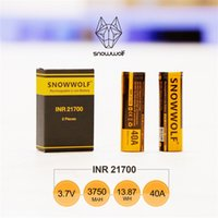 Wholesale Boxes For Cigarettes - 100% Original Sigelei Snowwolf INR 21700 Battery 40A 3.7V 3750mAh 13.88Wh Rechargeable Li-ion Battery For E Cigarette Box Mods