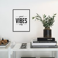 Wholesale print big pictures - Nordic Minimalist Black White Typography Motivational Life Quotes A4 Big Art Print Poster Wall Picture Canvas Painting Home Deco