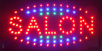 Wholesale Salon Led Neon Sign - 2016 led salon neon sign shop open hot sale low power 10*19 inch semi-outdoor Ultra Bright flashing salon led advertising signs