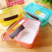Diamante Governata PP 970ML Lunch Box For Kids Utensili da cucina Accessori Loncheras Bento Box contenitore di alimento Posate da cucina