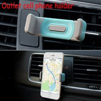 Wholesale Air Conditioning Products - Automobile air-conditioning outlet cellular phone support Car navigator bracket Suitable for a variety of electronic products DHL 500pcs lot