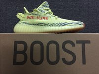2018 Date Boost 350 V2 Fluorescent vert Kanye West Sply 350 Boost Chaussures pour Black Friday Neon Zebra Chaussures de course grande taille