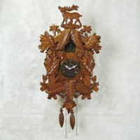 carved cuckoo clock - Home furnishings Crafts cuckoo clock mute pocket watch hand carved wood
