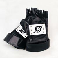 Wholesale Naruto Cosplay Wholesale - Wholesale-New Anime Naruto Ninja Gloves Kakashi Gloves Cosplay Costume Accessory Toy Gift