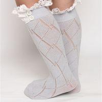 Wholesale Ruffle Boot Socks Wholesale - girl winter legging girl winter stockings grey lace ruffle long sock children's girl boot acessory sock