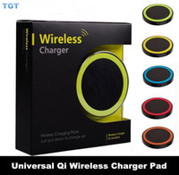 Wholesale Phone Dhl Uk - DHL Universal Qi Wireless power Charger Mini Charging Pad For Iphone Samsung nokia htc LG Qi-abled device Mobile Phone with retail package