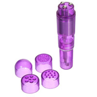 Wholesale Pocket Rocket Battery - 4 Interchangeable Tips Waterproof Mini Full Body Massager Relieve Stress Travel Pocket Rocket Vibrator Sex Toys Sex Products On Sale 2015
