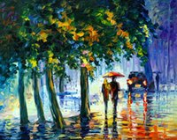 Wholesale Tree Pictures Decorative - Free Shipping Hot Sell Modern Wall Painting Home Decorative Art Picture Paint Canvas Prints Color painting The trees Architecture The car