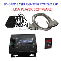 Wholesale Laser Software - Wholesale-SD CARD Laser lighting controller box ild ILDA player software DJ