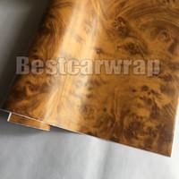 Wholesale Pvc Liner - SimpleLife4U Wood Grain Car Wrap Film Contact Paper PVC Self-Adhesive Shelf Liner Locker Door Sticker Air release 1.52X20M ROLL 5x67ft