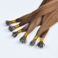 Venda por atacado Top Quality Nano Rings Hair Extensions 0.5g / s 300s / lot 14 '' - 24''1 # 1b # 2 # 4 # 6 # 27 # 613 # NoTangle No Shedding Fast Shipping